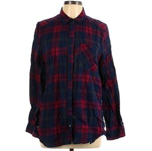 💜Express Boyfriend Button Down Long Sleeve Plaid